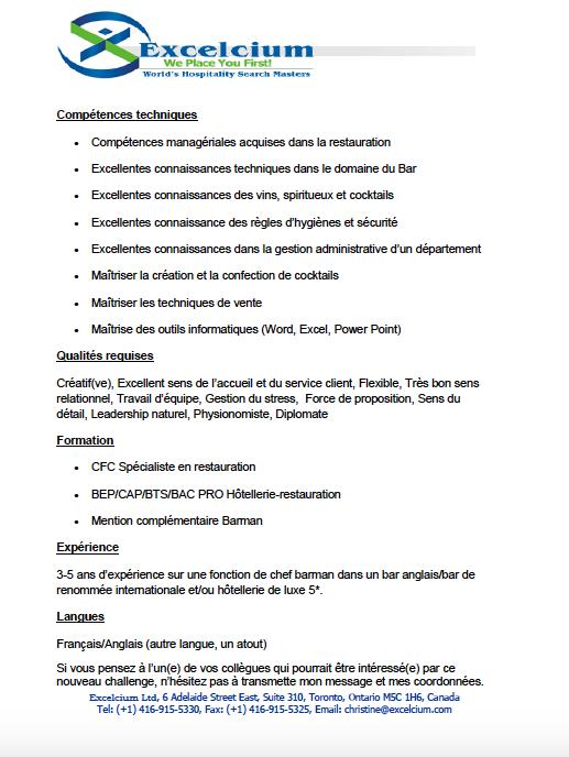 Job Portal – Swiss Barkeeper Union